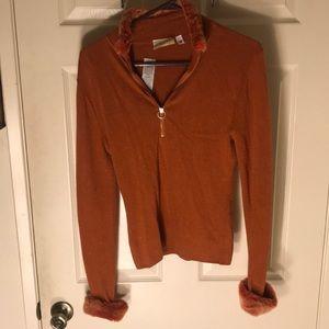Cache Sweaters - NWT Cache orange sweater